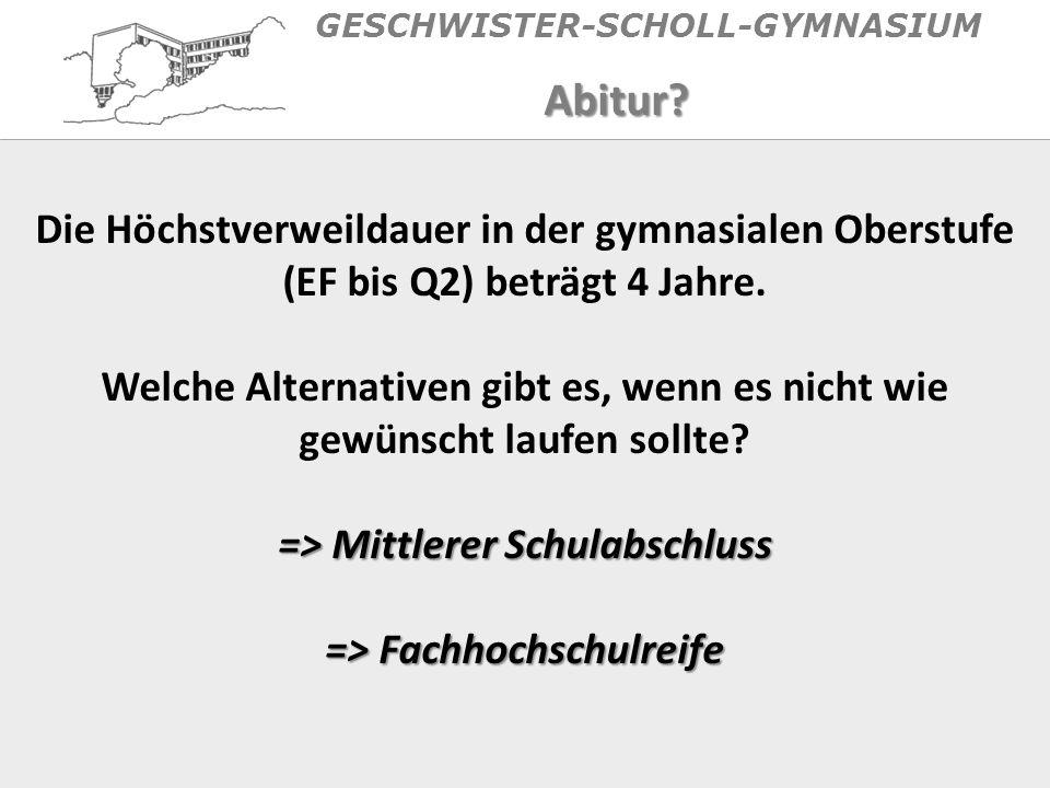 GESCHWISTER-SCHOLL-GYMNASIUMAbitur.