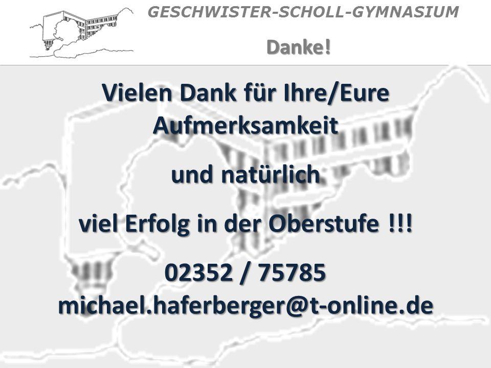 GESCHWISTER-SCHOLL-GYMNASIUMDanke.