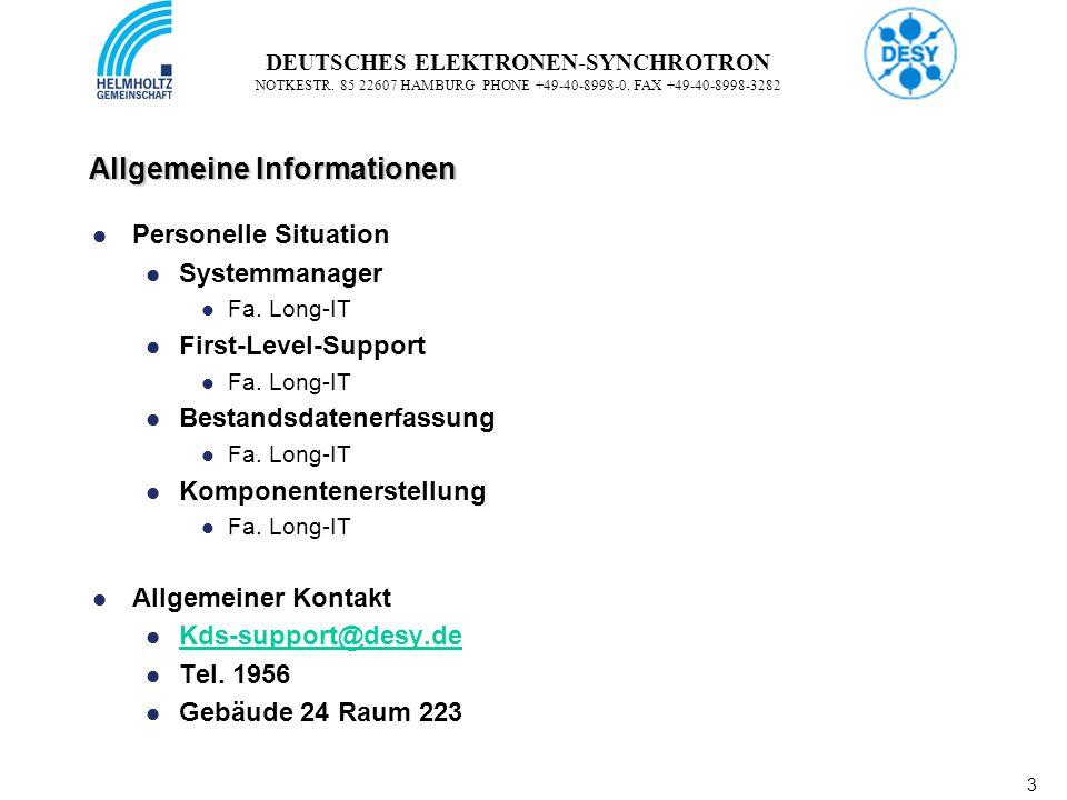 4 4 DEUTSCHES ELEKTRONEN-SYNCHROTRON NOTKESTR.85 22607 HAMBURG PHONE +49-40-8998-0.