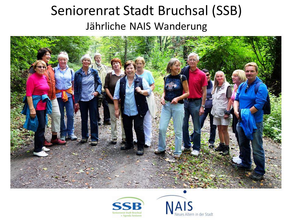 Seniorenrat Stadt Bruchsal (SSB) Jährliche NAIS Wanderung