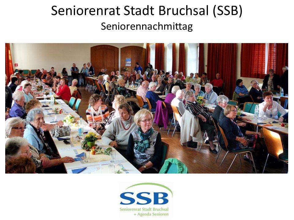 Seniorenrat Stadt Bruchsal (SSB) Seniorennachmittag