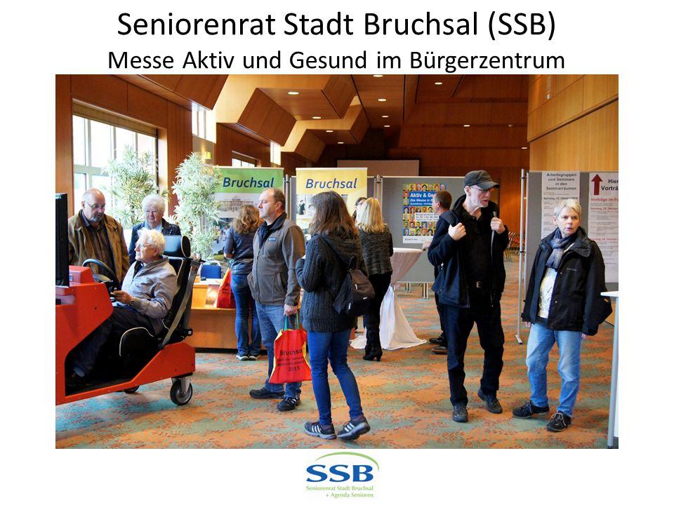 Seniorenrat Stadt Bruchsal (SSB) Messe Aktiv und Gesund im Bürgerzentrum