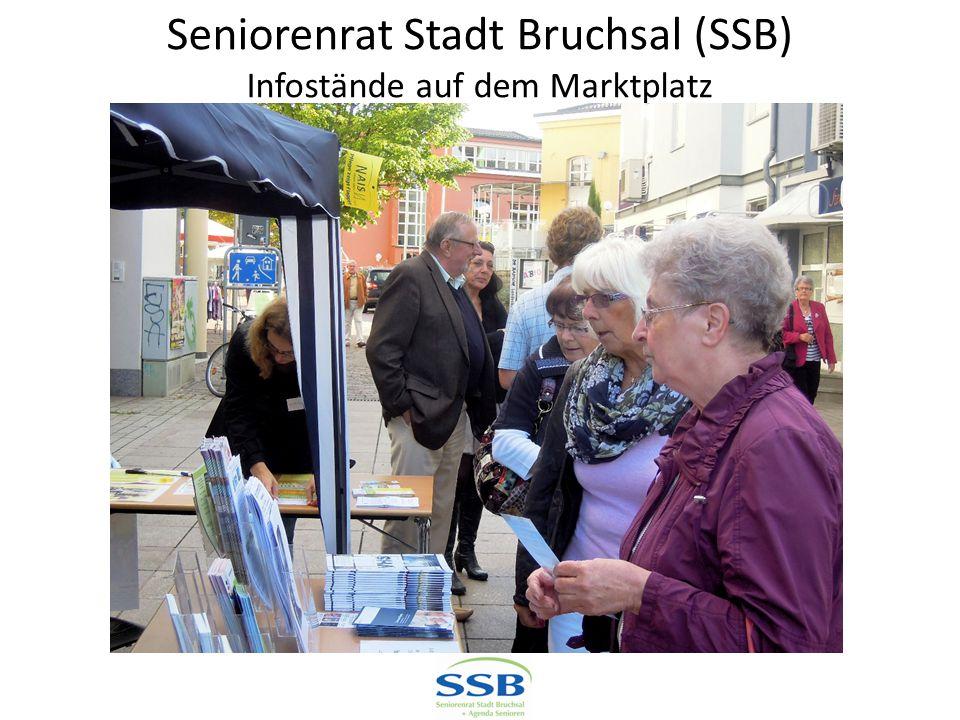 Seniorenrat Stadt Bruchsal (SSB) Infostände auf dem Marktplatz