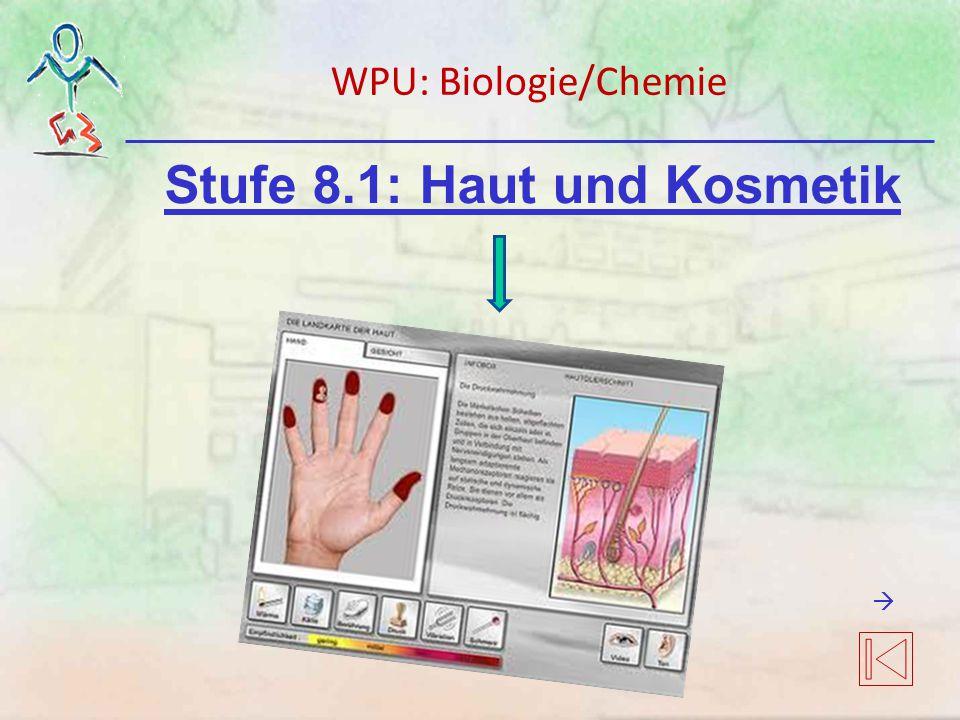 Stufe 8.1: Haut und Kosmetik WPU: Biologie/Chemie 