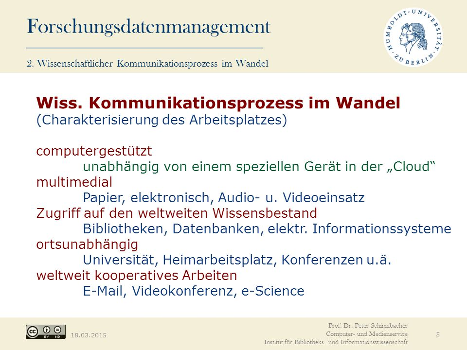 Forschungsdatenmanagement 18.03.2015 The Royal Society, 2012.