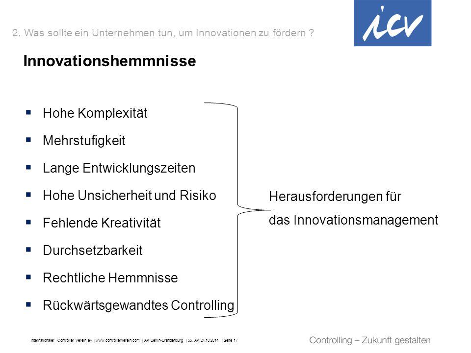 Internationaler Controller Verein eV   www.controllerverein.com   AK Berlin-Brandenburg   55. AK 24.10.2014   Seite 17  Hohe Komplexität  Mehrstufig