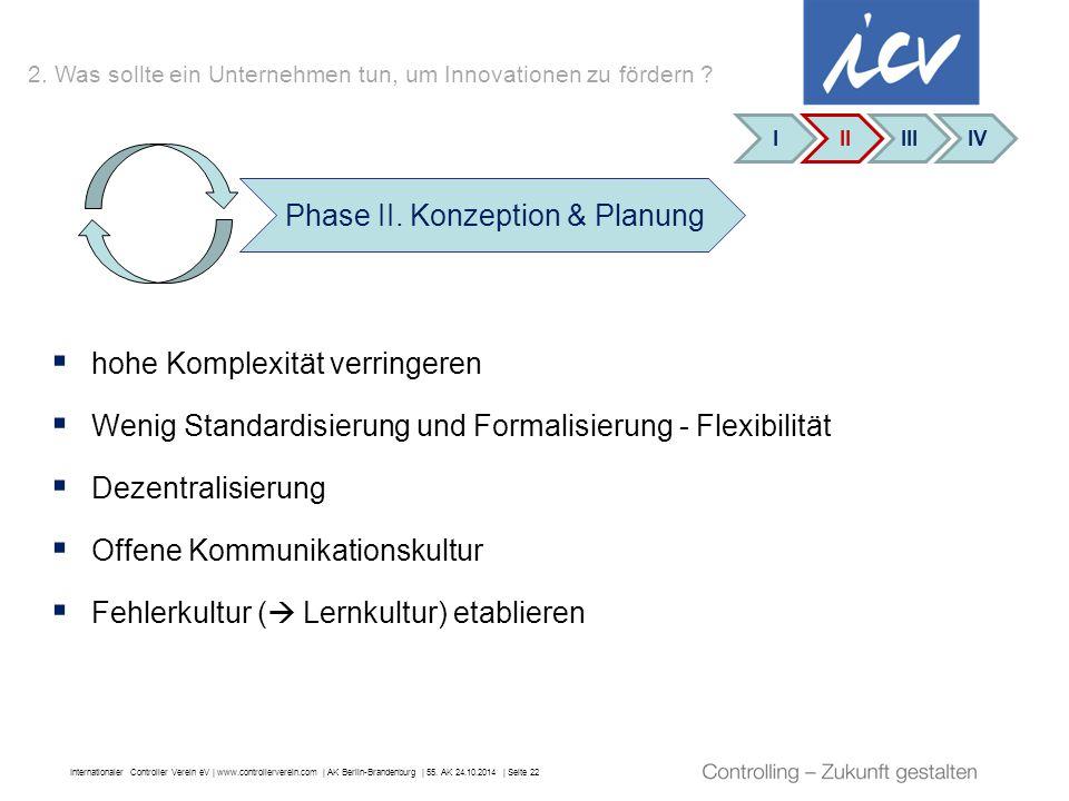 Internationaler Controller Verein eV   www.controllerverein.com   AK Berlin-Brandenburg   55. AK 24.10.2014   Seite 22  hohe Komplexität verringeren