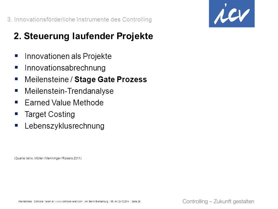 Internationaler Controller Verein eV   www.controllerverein.com   AK Berlin-Brandenburg   55. AK 24.10.2014   Seite 29 2. Steuerung laufender Projekte