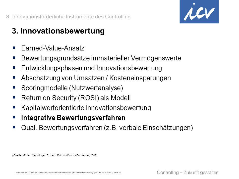 Internationaler Controller Verein eV   www.controllerverein.com   AK Berlin-Brandenburg   55. AK 24.10.2014   Seite 35 3. Innovationsbewertung 3. Inno