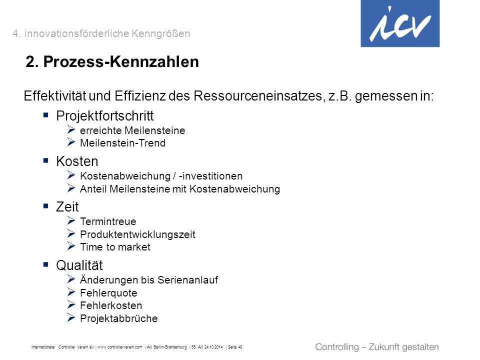 Internationaler Controller Verein eV   www.controllerverein.com   AK Berlin-Brandenburg   55. AK 24.10.2014   Seite 48 2. Prozess-Kennzahlen Effektivi