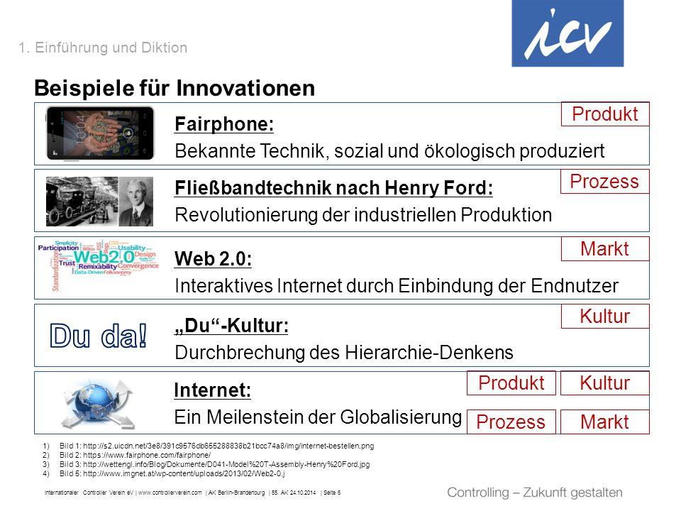 """Internationaler Controller Verein eV   www.controllerverein.com   AK Berlin-Brandenburg   55. AK 24.10.2014   Seite 6 """"Du""""-Kultur: Durchbrechung des H"""