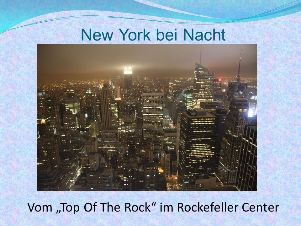 "New York bei Nacht Vom ""Top Of The Rock"" im Rockefeller Center"