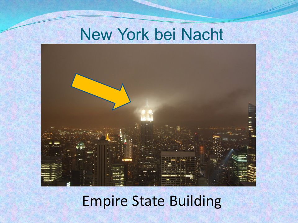 New York bei Nacht Empire State Building