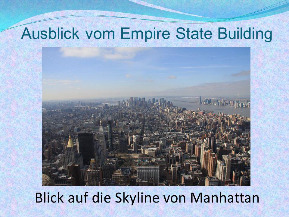 Ausblick vom Empire State Building Blick auf die Skyline von Manhattan