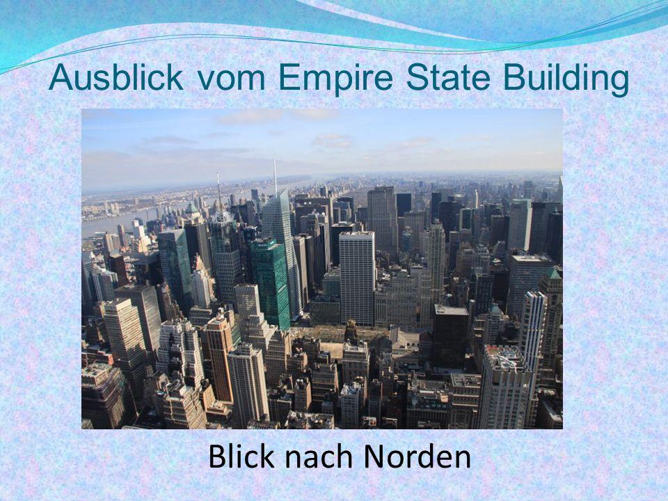 Ausblick vom Empire State Building Blick nach Norden