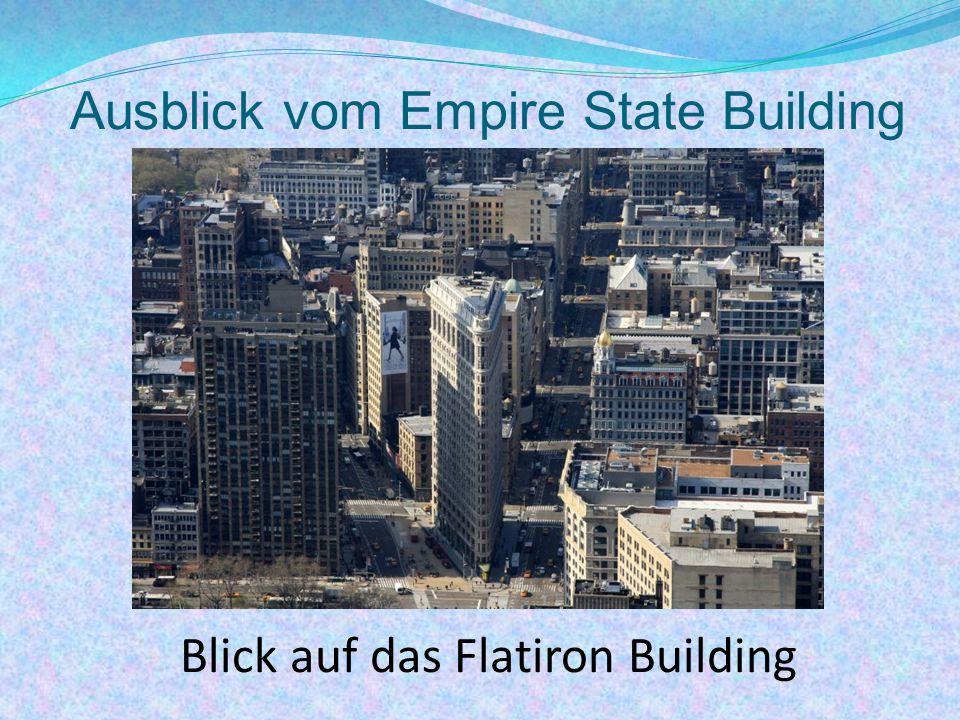 Ausblick vom Empire State Building Blick auf das Flatiron Building