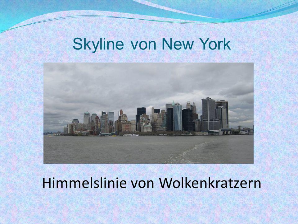Skyline von New York Himmelslinie von Wolkenkratzern