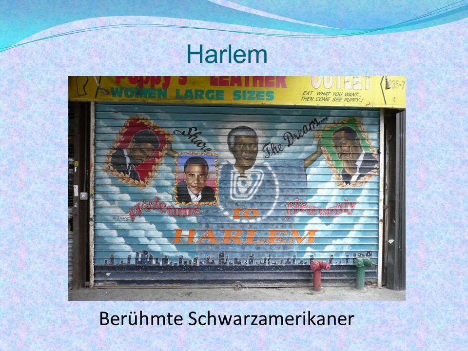 Harlem Berühmte Schwarzamerikaner