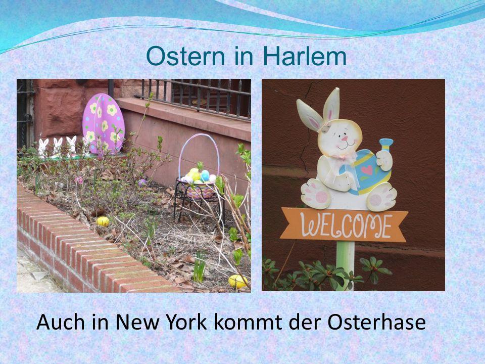 Ostern in Harlem Auch in New York kommt der Osterhase