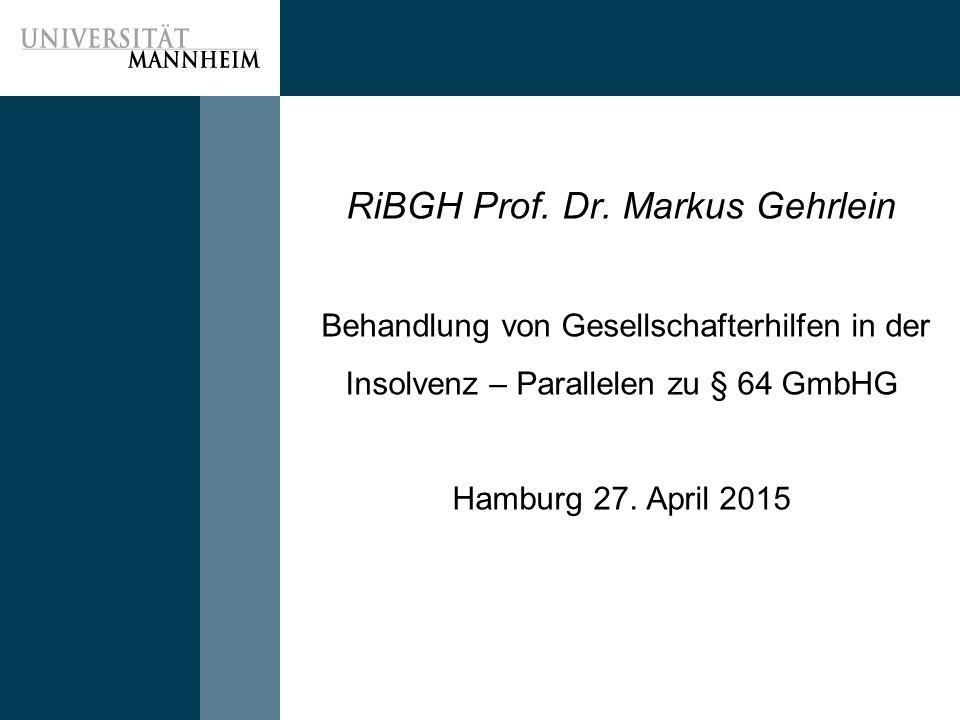 RiBGH Prof.Dr.