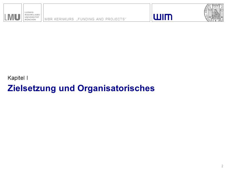 """MBR KERNKURS """"FUNDING AND PROJECTS 33 Was fördert die Deutsche Forschungsgemeinschaft."""