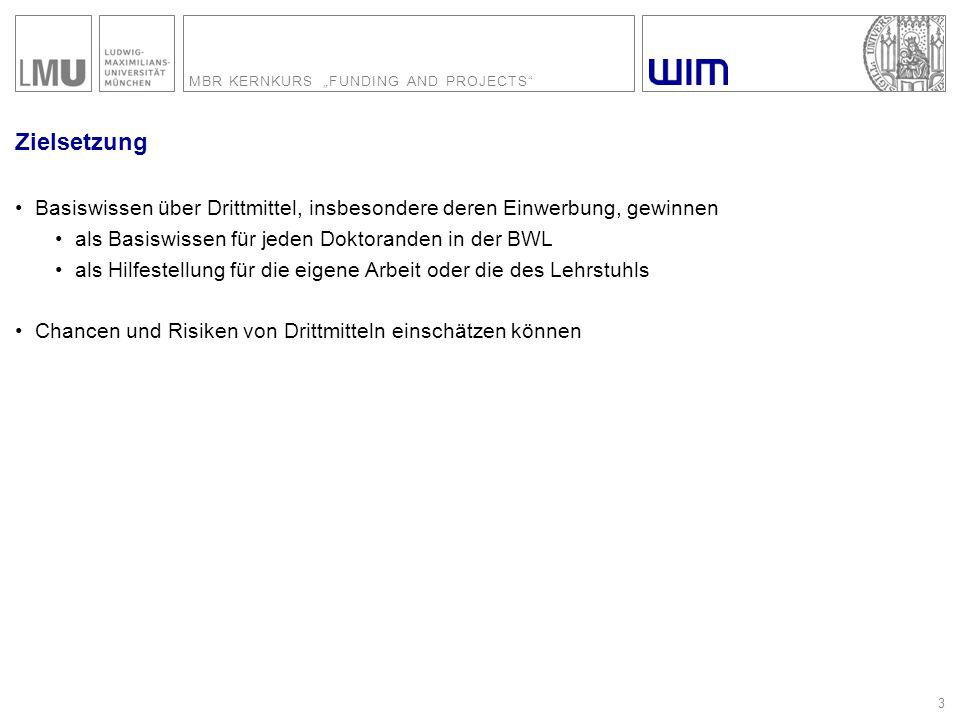 """MBR KERNKURS """"FUNDING AND PROJECTS 44 Der Wirtschaftsplan der DFG 2008-2010 – Bewilligungen in Höhe von 7,3 Mrd."""