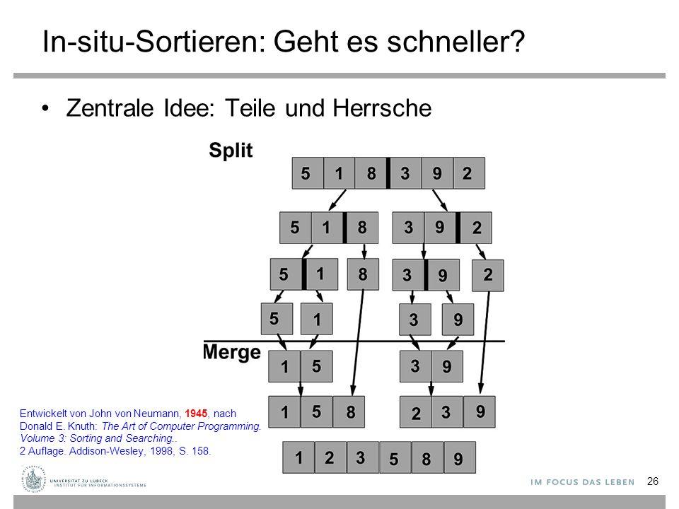 Entwurfsmuster/-verfahren: Teile und Herrsche 27