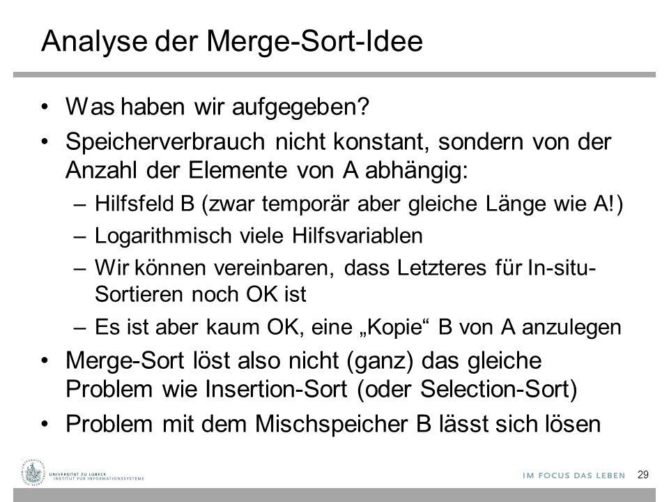 Analyse von Merge-Sort 30