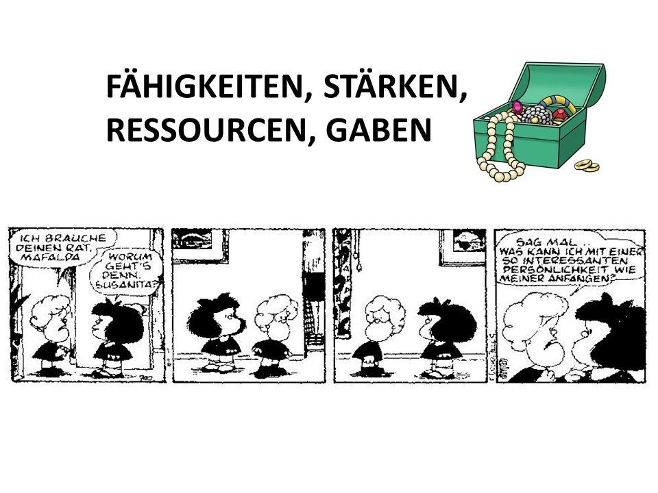 FÄHIGKEITEN, STÄRKEN, RESSOURCEN, GABEN