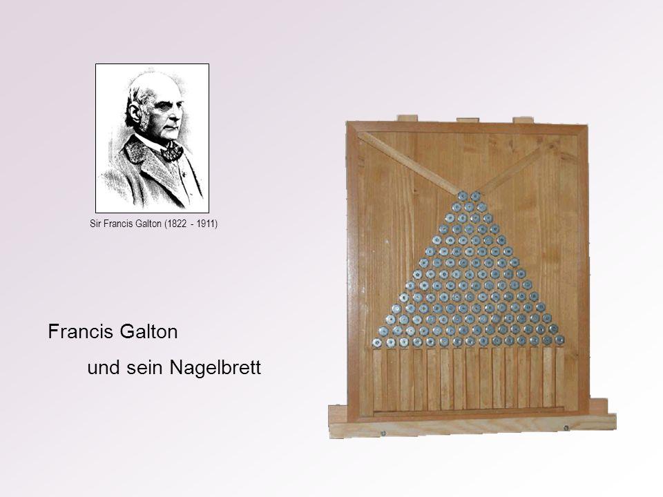 Francis Galton und sein Nagelbrett Sir Francis Galton (1822 - 1911)