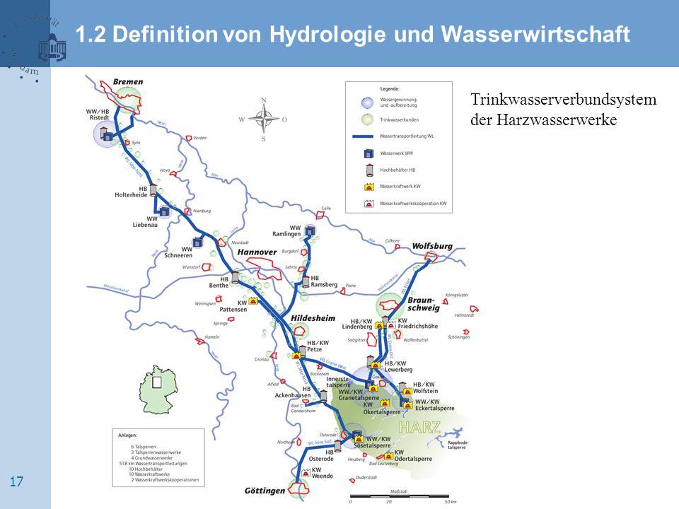 Trinkwasserverbundsystem der Harzwasserwerke 1.2 Definition von Hydrologie und Wasserwirtschaft 17