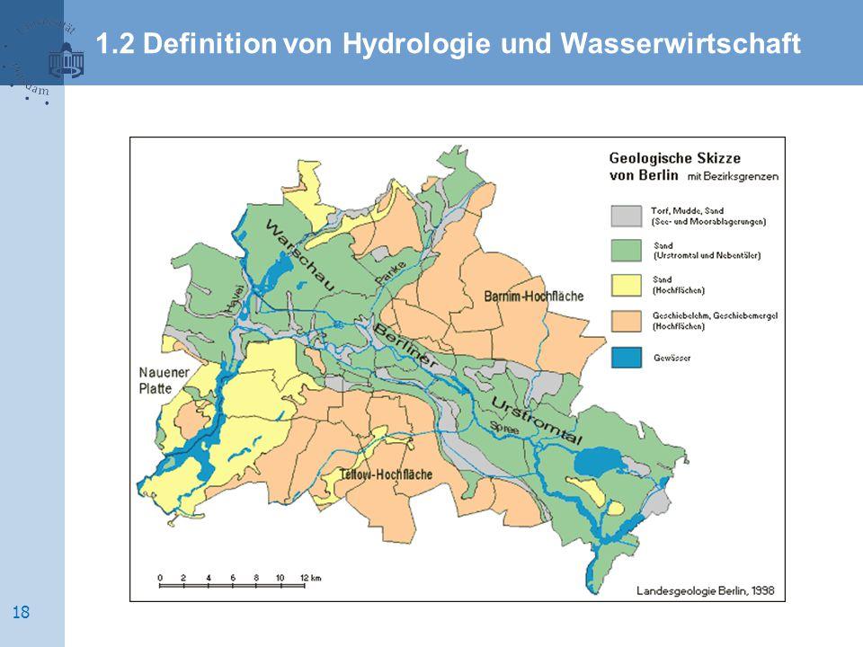 1.2 Definition von Hydrologie und Wasserwirtschaft 18
