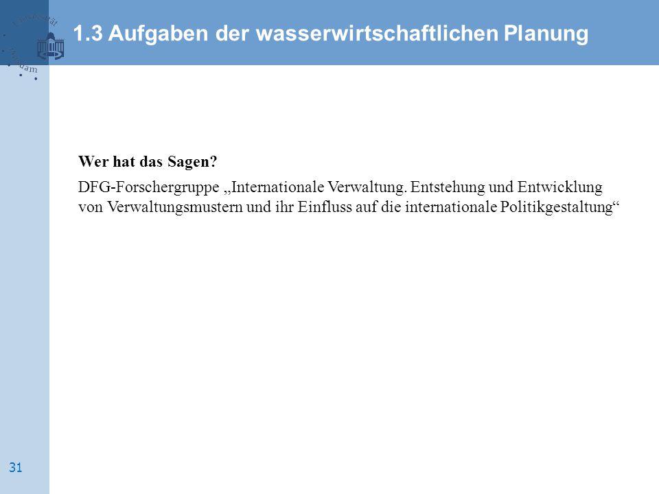 """Wer hat das Sagen.DFG-Forschergruppe """"Internationale Verwaltung."""