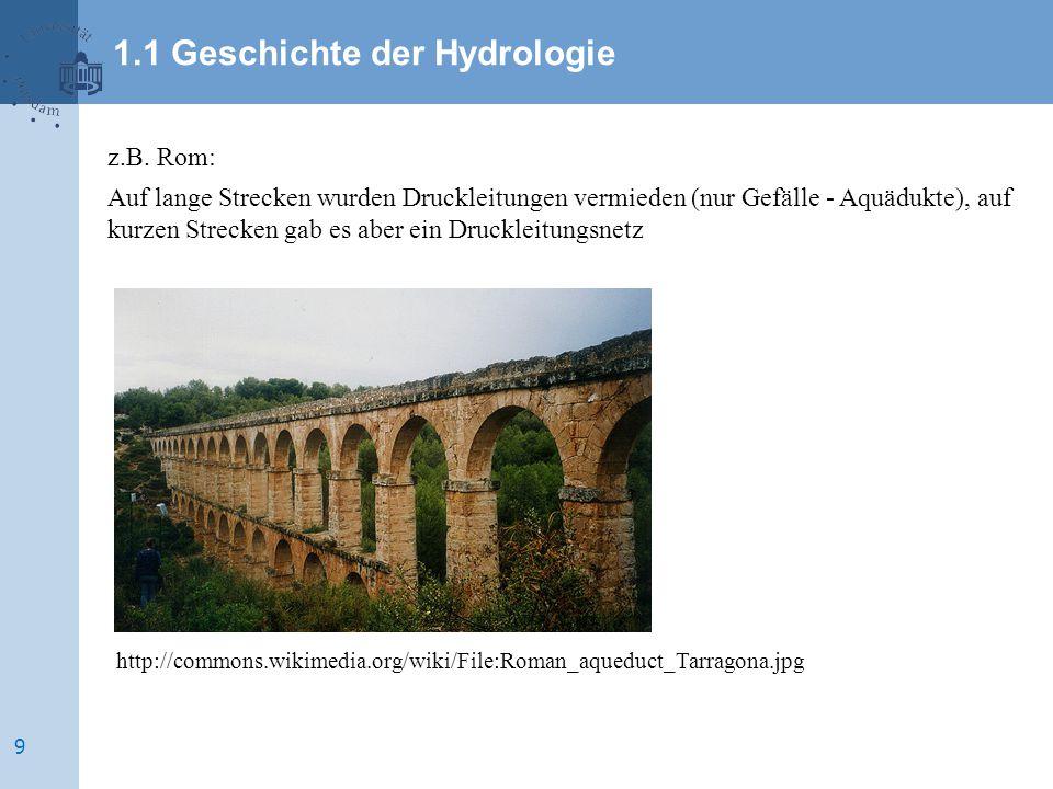 z.B. Rom: Auf lange Strecken wurden Druckleitungen vermieden (nur Gefälle - Aquädukte), auf kurzen Strecken gab es aber ein Druckleitungsnetz http://c