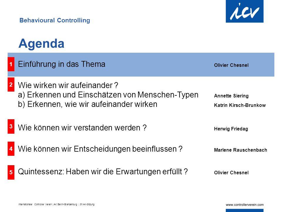 Internationaler Controller Verein | AK Berlin-Brandenburg | 51.AK-Sitzung Ideenwerkstatt des ICV – Fokus 2011/2012  Das Jahresthema 2011/2012: was macht Controller erfolgreich(er).