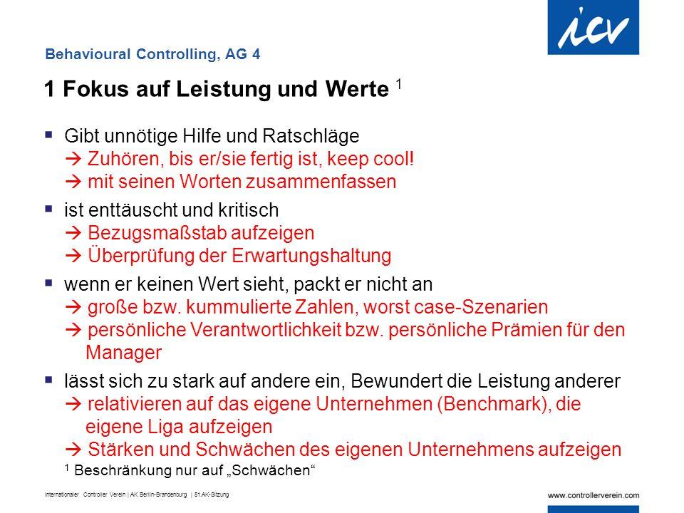 Internationaler Controller Verein | AK Berlin-Brandenburg | 51.AK-Sitzung 1 Fokus auf Leistung und Werte 1  Gibt unnötige Hilfe und Ratschläge  Zuhö
