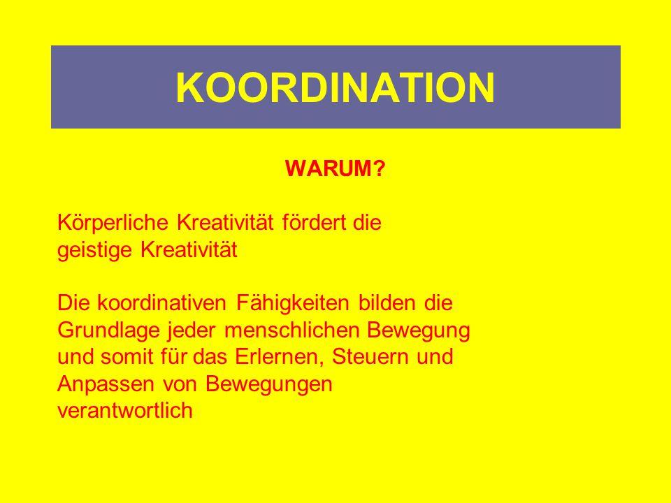 KOORDINATION Definitionen/Mundsprache: Zusammenspiel Ordnung Kommunikation (innere und äußere)
