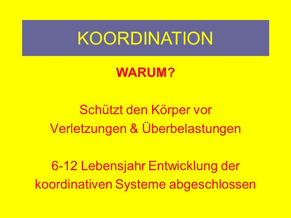 KOORDINATION WARUM.