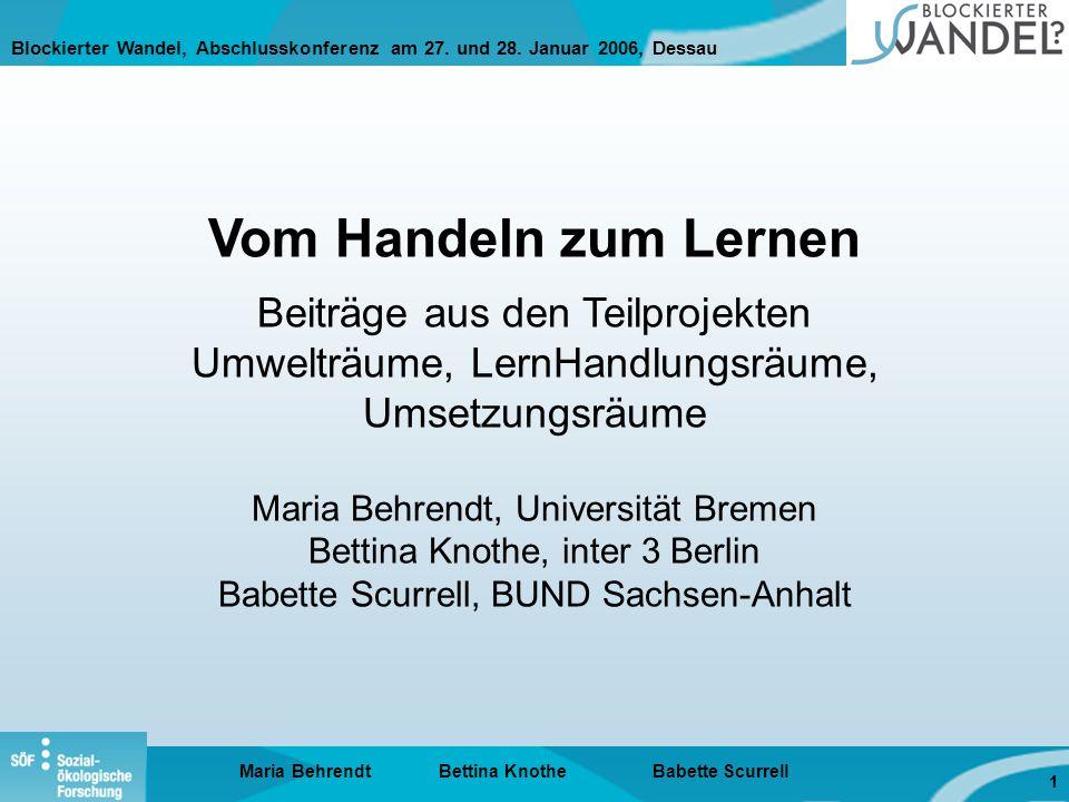 Blockierter Wandel, Abschlusskonferenz am 27. und 28.