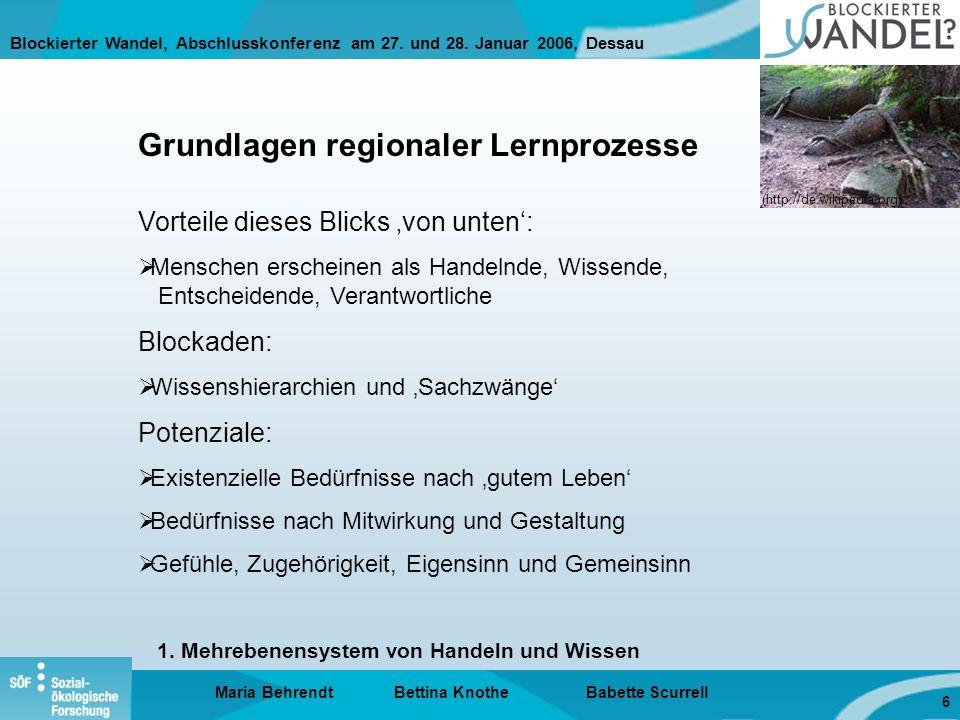 Blockierter Wandel, Abschlusskonferenz am 27.und 28.