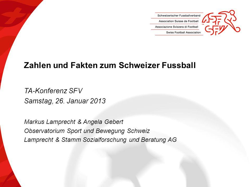 Zahlen und Fakten zum Schweizer Fussball TA-Konferenz SFV Samstag, 26.