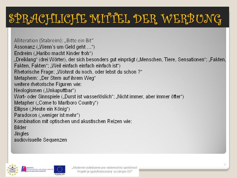 SPRACHLICHE MITTEL DER WERBUNG 7