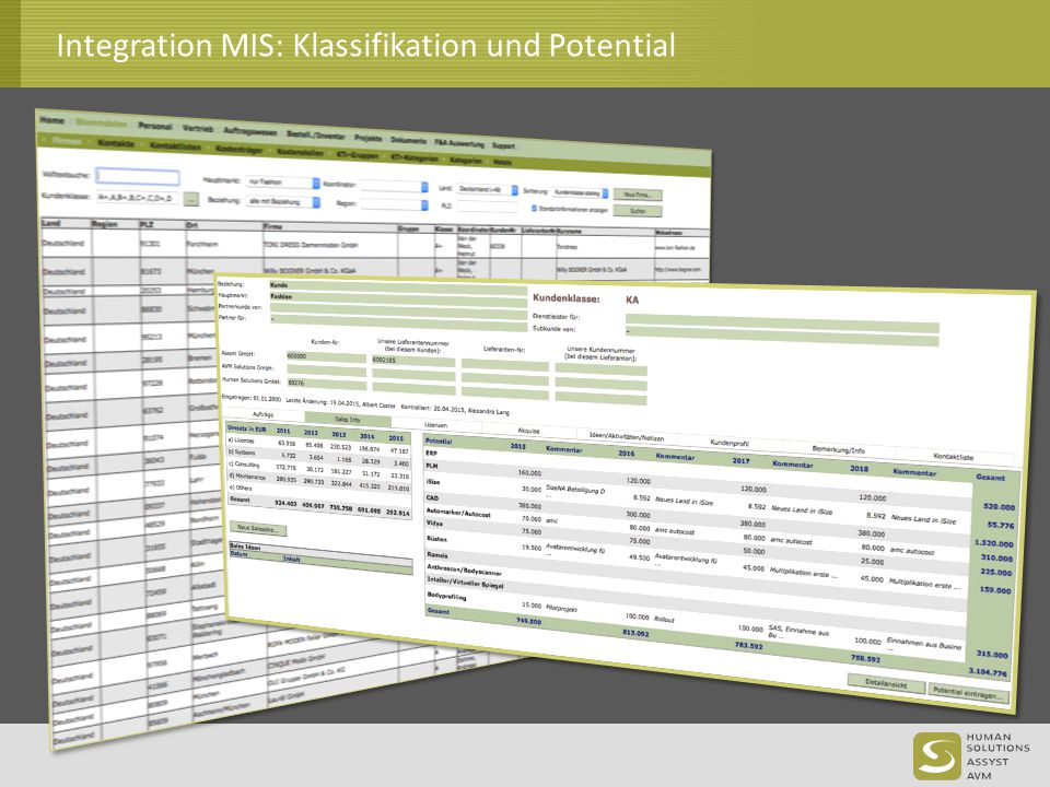 Integration MIS: Klassifikation und Potential