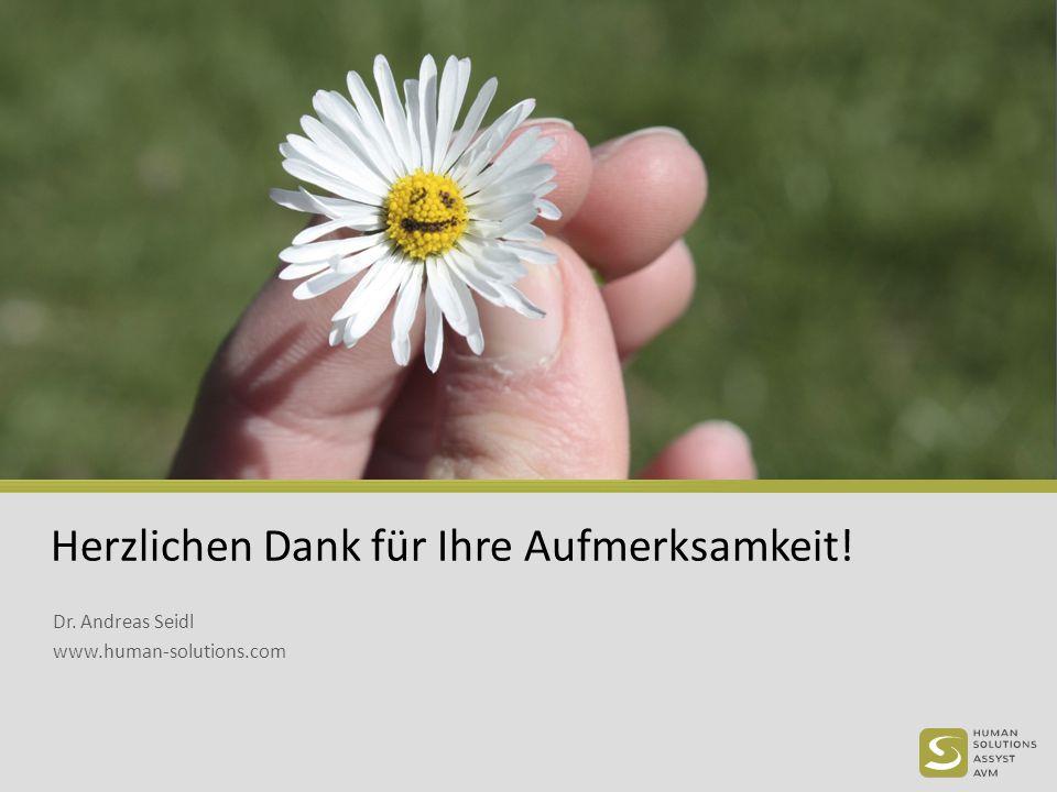 Herzlichen Dank für Ihre Aufmerksamkeit! Dr. Andreas Seidl www.human-solutions.com