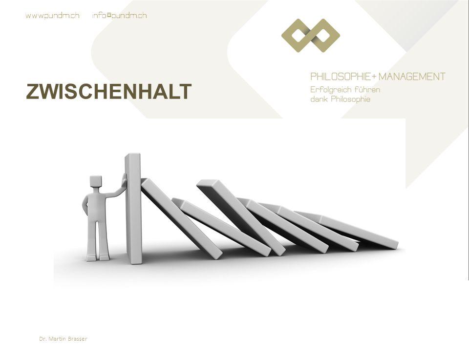 www.pundm.ch info@pundm.ch ZWISCHENHALT Dr. Martin Brasser