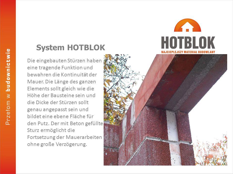 Die eingebauten Stürzen haben eine tragende Funktion und bewahren die Kontinuität der Mauer.