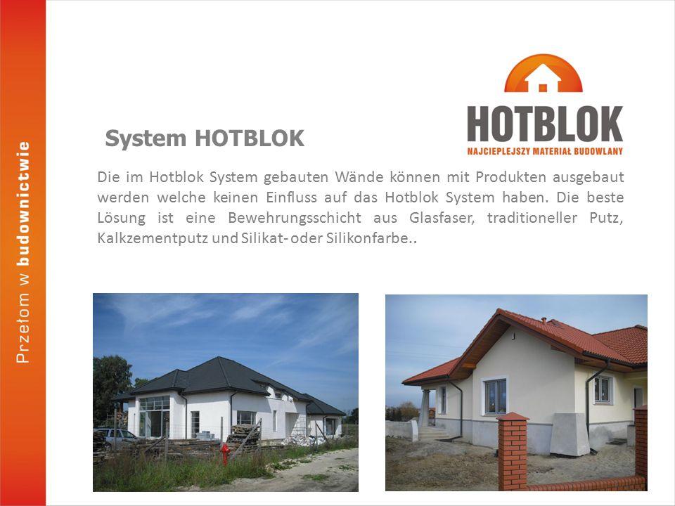 Die im Hotblok System gebauten Wände können mit Produkten ausgebaut werden welche keinen Einfluss auf das Hotblok System haben.