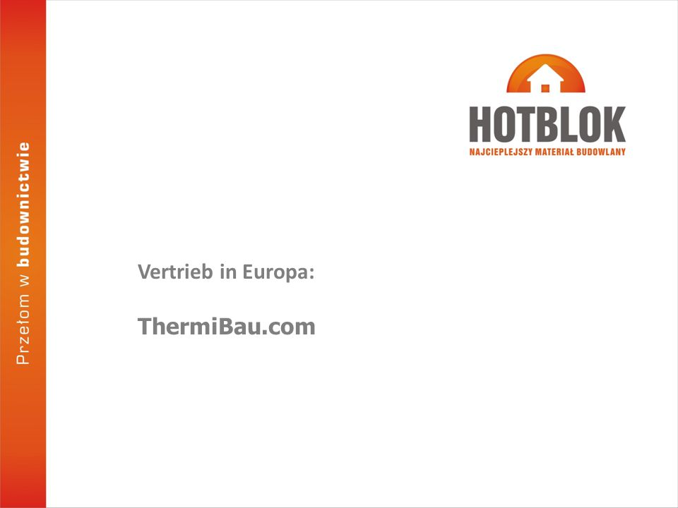 Vertrieb in Europa: ThermiBau.com