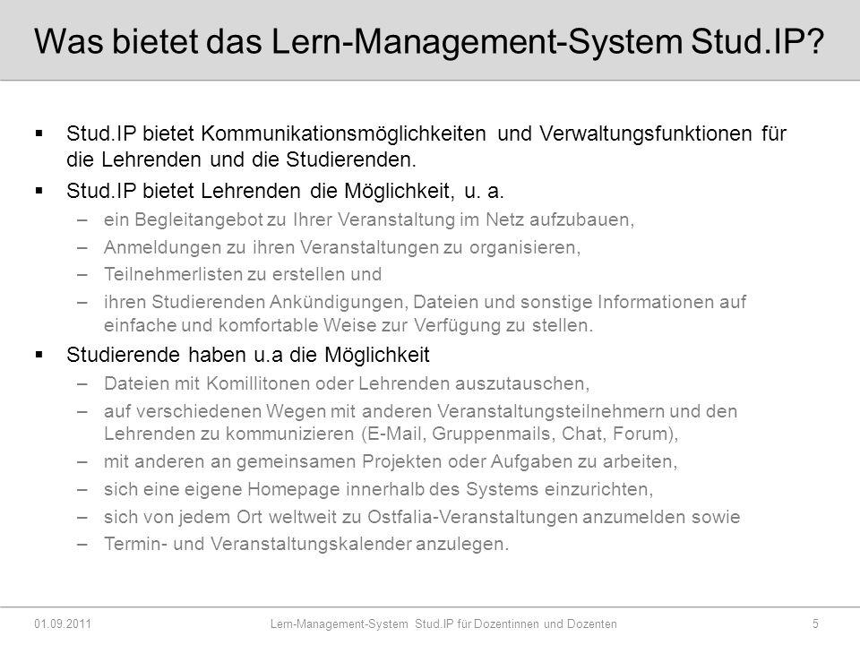 Was bietet das Lern-Management-System Stud.IP.