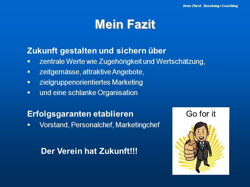 Arno Ehret Beratung+Coaching Mein Fazit Erfolgsgaranten etablieren  Vorstand, Personalchef, Marketingchef Zukunft gestalten und sichern über  zentra